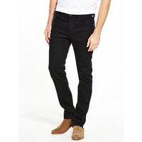 Pretty Green Erwood Slim Fit Jeans, Black Rinse, Size 30, Length Regular, Men