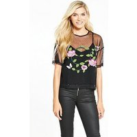 Guess Madelina Top, Jet Black, Size Xl, Women