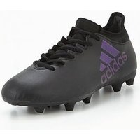 adidas Mens X 17.3 Firm Ground Football Boot - Black , Black, Size 9, Men