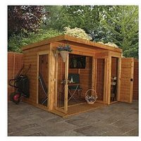 Mercia 10 X 8Ft Premium Garden Room Summerhouse With Side Shed