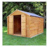 Mercia 10 X 8Ft Overlap Windowless Apex Shed