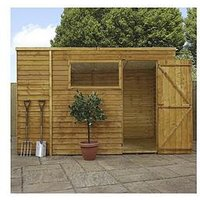 Product photograph showing Mercia 10 X 6ft Overlap Pent Shed