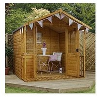 Mercia 7 X 7Ft Traditional Summerhouse With Veranda