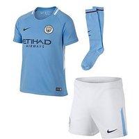 Boys, Nike Nike Little Kids Manchester City 17/18 Home Kit, Blue, Size Xs