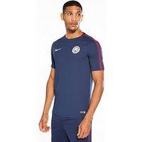 Nike Manchester City Squad Tee, Blue, Size M, Men