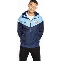 Nike Manchester City Windrunner Jacket, Blue, Size L, Men