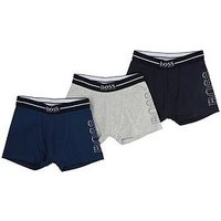 BOSS Boys Logo Boxer (3 Pack), Slate Blue, Size Age: 6 Years