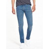 Lee Luke Slim Tapered Jeans - Blue Dust, Blue Dust, Size 32, Length Regular, Men