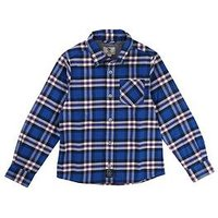 Timberland Boys Long Sleeve Check Shirt, Electric Blue, Size 5 Years