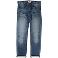 Timberland Boys Straight Fit Denim Jeans, Blue, Size 10 Years
