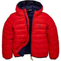 Timberland Boys Packable Hooded Padded Jacket, Poppy, Size Age: 6 Years