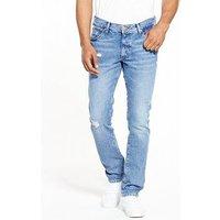 Wrangler Larston Slim Tapered Jeans, Pepper, Size 30, Length Regular, Men