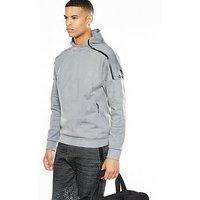 adidas Z.N.E Pulse Overhead Hoodie - Grey , Grey, Size L, Men