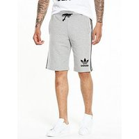 adidas Originals 3S Short - Medium Grey Heather , Medium Grey Heather, Size S, Men