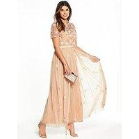 V by Very Embellished Maxi Dress, Blush, Size 16, Women
