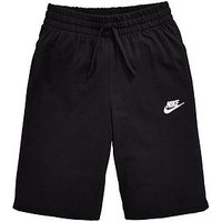 Nike Older Boys Short - Black , Black, Size Xs=6-8 Years