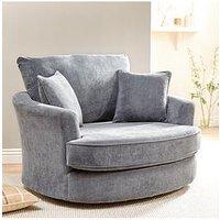 Ideal Home Camden Fabric Swivel Chair