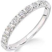Love DIAMOND Love DIAMOND 9ct White Gold 50 Points of Diamond Eternity Ring, One Colour, Size O, Women