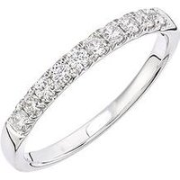 Love DIAMOND 9ct white gold 33 point micro setting eternity ring, One Colour, Size S, Women