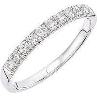 Love DIAMOND 9ct white gold 33 point micro setting eternity ring, One Colour, Size P, Women