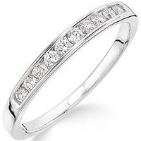 Love DIAMOND Love DIAMOND 9ct White Gold 25 Point Channel Set Eternity Ring, One Colour, Size R, Women