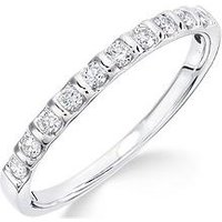 Love DIAMOND 9ct white gold 25 points diamond bar set eternity ring, One Colour, Size S, Women