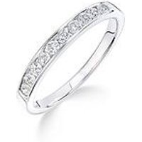 Love DIAMOND 9ct white gold 33 point channel setting eternity ring, One Colour, Size K, Women