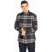 V by Very L/s Check Shirt, Multi, Size S, Men
