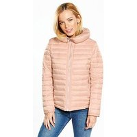 V by Very Petite Lightweight Padded Coat - Nude, Nude, Size 6, Women