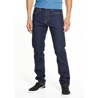 Levi's 502 Regular Tapered Jeans, Chain Rinse, Size 36, Inside Leg Long, Men