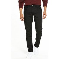 Replay Anbass Slim Fit Jeans, Black, Size 34, Length Short, Men