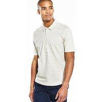 Selected Homme Stripe Short Sleeve Polo, Silver Filigree Stripe, Size L, Men