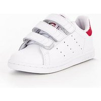 adidas Originals Adidas Originals Stan Smith Infant Trainer, White/Pink, Size 8