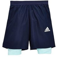 Boys, adidas Youth 2IN1 Short, Navy, Size 15-16 Years