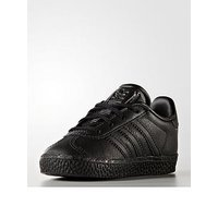 adidas Originals Gazelle Infant Trainer, Black/Black, Size 8