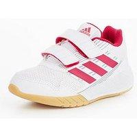 adidas Alta Run Children Trainer, White/Pink, Size 4