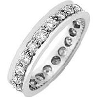 Love DIAMOND 9ct Gold 1 Carat Diamond Eternity Ring, Yellow Gold, Size R, Women