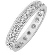 Love DIAMOND 9ct Gold 50 Points Diamond Full Eternity Ring, Yellow Gold, Size U, Women