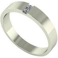 Love DIAMOND 9ct Gold Diamond Set Band Ring, Yellow Gold, Size S, Women
