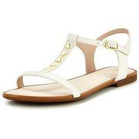 Clarks Clarks Sail Beach Embellished Flat Sandal, White Leather, Size 4, Women