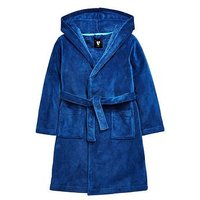 Boys, V by Very Hooded Dressing Gown, Navy, Size Age: 3-4 Years