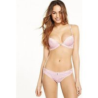 B By Ted Baker Embroidery Brazilian Brief - Nude, Nude, Size 16, Women
