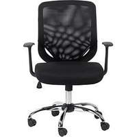 Product photograph showing Alphason Atlanta Mesh Back Office Chair - Black