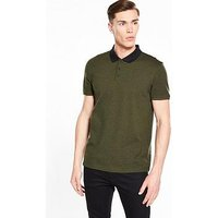 Selected Homme Short Sleeve Polo, Green, Size L, Men
