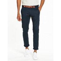Selected Homme Yard Slim Chino, Dark Blue, Size 30, Inside Leg Regular, Men