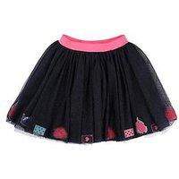 Billieblush Girls Glitter Mesh Tutu Skirt, Navy, Size 5 Years, Women