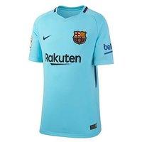 Boys, Nike Nike Junior Barcelona Short Sleeved Away Stadium Jersey, Blue, Size Xs