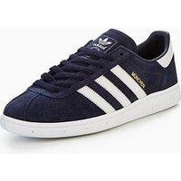 adidas Originals Munchen, Navy, Size 6, Men