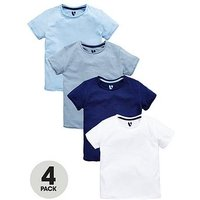 Mini V by Very Boys 4 Pack Slub Tshirts, Multi, Size Age: 4-5 Years