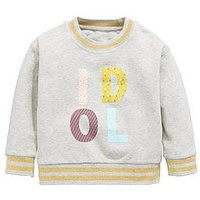 Mini V by Very Girls Grey Idol Crew Neck Sweat Top, Multi, Size Age: 2-3 Years, Women